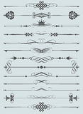 Vector set. Calligraphic design elements for your design. Royalty Free Stock Images