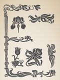 Vector set calligraphic design vintage elements an Royalty Free Stock Photos