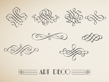 Vector set calligraphic design vintage elements an Stock Photos