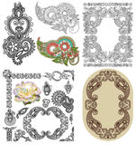Vector set of calligraphic design vintage frame Royalty Free Stock Image