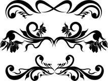 Vector set calligraphic element. Floral pattern vector illustration