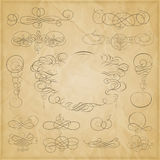 Vector set of calligraphic elements for design. Calligraphic vector Royalty Free Stock Photography