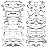 Vector set of calligraphic elements for design. Decorative Swirls, Scrolls, Dividers. Vintage Vector Illustration. Stock Photo