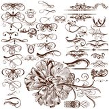Vector set of calligraphic flourishes and ornaments Royalty Free Stock Photography