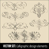 Vector set of calligraphic and page decoration design elements. Elegant elements for your design Stock Image