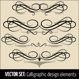 Vector set of calligraphic and page decoration design elements. Elegant elements for your design Stock Photo