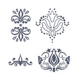 Vector set. calligraphic vintage design elements. Vector set of calligraphic vintage design elements Royalty Free Stock Photo