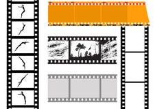 Vector set camera film. On white background Royalty Free Stock Image