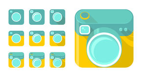 Vector set of camera icons Royalty Free Stock Photography