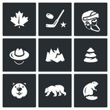 Vector Set of Canada Icons. Royalty Free Stock Images