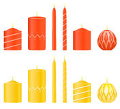 Vector set candles Stock Photography