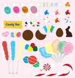 Vector Set: Candy Pieces Royalty Free Stock Photo