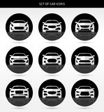 Vector set of car icons Stock Image