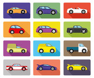 Vector set. Car icons. Royalty Free Stock Photos