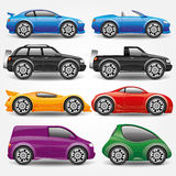Vector set. Car icons. Stock Images