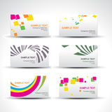 Vector set of card Stock Image