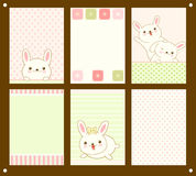 Vector set of cards with Easter bunny Royalty Free Stock Photo