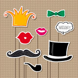 Vector set of carnival props Royalty Free Stock Image