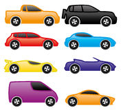 Vector set. Cars. Stock Photography