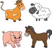 Vector set of cartoon animals Royalty Free Stock Photography