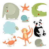 Vector set of cartoon animals. Royalty Free Stock Photography
