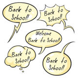 Vector Set of Cartoon Bubbles - Back to School Stock Photo
