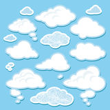Vector set of cartoon clouds Royalty Free Stock Image