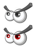 Vector set of cartoon eyes Royalty Free Stock Photo