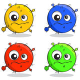 Vector set of cartoon germs Stock Photography