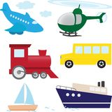 Vector set of cartoon transport Stock Images