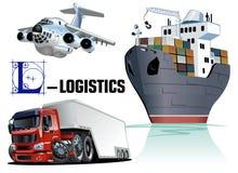 Vector set of cartoon transport royalty free illustration