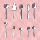 Vector set of catlery icons. For your design Stock Photos