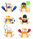 Vector set of cats-athletes Stock Images