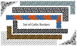Vector set of Celtic style borders stock illustration