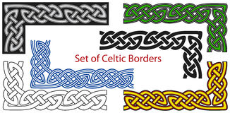 Vector set of Celtic style borders.  Royalty Free Stock Photo