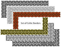 Vector set of Celtic style borders stock illustration