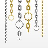 Vector Set of Chains Royalty Free Stock Image