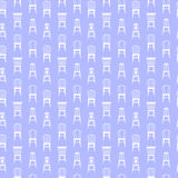 Vector set with chairs Stock Image