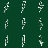 Vector Set of Chalk Doodle Thunder Lighting Icons Royalty Free Stock Photo