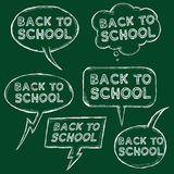 Vector Set of Chalk Sketch Bubbles - Back to School. Stock Image