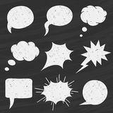 Vector Set of Chalkboard speech bubbles - Illustration Royalty Free Stock Photos