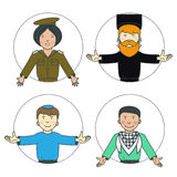 Vector set of characters. Royalty Free Stock Photo