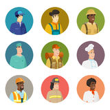 Vector set of characters of different professions. Stock Photography