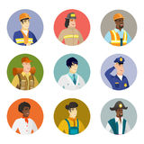Vector set of characters of different professions. Stock Image