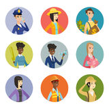 Vector set of characters of different professions. Royalty Free Stock Photo