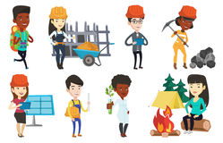 Vector set of characters on ecology issues. Stock Photo