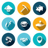 Vector Set of Cheap Labor Icons. Stock Images