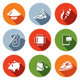 Vector Set of Cheap Labor Icons.  Royalty Free Stock Photography