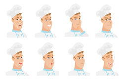 Vector set of chef-cooker characters. Stock Images