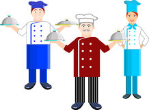 Vector set of chef man and chef women Royalty Free Stock Photo